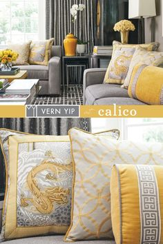 Vern Yip's sophisticated fabrics and trimmings are inspired by his extensive global travels. Available at a Calico store near you.