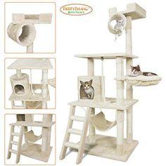 """PARTYSAVING PET PALACE 62"""" Cat Tree Kitten Activity Tower..."""