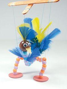 Make a bird puppet