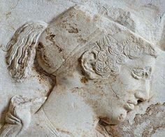 Funerary Stele in honor of Philis, daughter of Cleomenes (detail) ~ Louvre, Department of Greek, Etruscan, and Roman Antiquities: Classical Greek Art (5th-4th centuries BC)