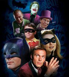 BATMAN (TV series - the classic TV series with all the infamous vilians - Joker, Penguin, Riddler & Cat Woman Batman 1966, Im Batman, Batman Robin, Batman Tv Show, Batman Tv Series, Dc Comics, Batman Comics, Batgirl, Catwoman