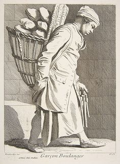 Baker's Boy,/ Anne Claude de Tubieres, after Edme Bouchardon, etching with some engraving, 1746.