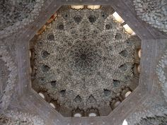 Ceiling of the Sala de las dos Hermanas at the Alhambra palace