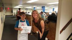 Fan at FOX 8 studio...Keep Cooking Maddie!