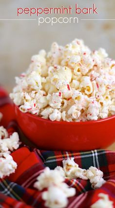 Peppermint Bark Popcorn - Your Cup of Cake