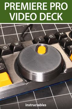 The Big Wheel, is a premiere pro video deck that is half mechanical keyboard, half DJ deck, half fidget spinner. #Instructables #electronics #technology#3Dprint #controller Elite Dangerous Controls, Dj Decks, Electrical Tape, Big Wheel, Super Saiyan, Keyboard, 3d Printing, Technology, Project Ideas
