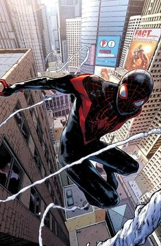 SUNDAY BOMB DROP!!Post Secret War… Miles Morales IS Spider-man by Sara Pichellihttp://www.nydailynews.com/entertainment/marvel-inclusion-biracial-spider-man-article-1.2265591