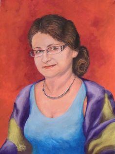 painting portrait - Galeria obrazów Felicji Kozielskiej Mona Lisa, Painting, Artist, Artwork, Work Of Art, Auguste Rodin Artwork, Painting Art, Paintings, Artworks