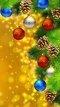 Seasonal Screensavers Theme | Christmas Ornaments 360x640 free Screensaver wallpaper
