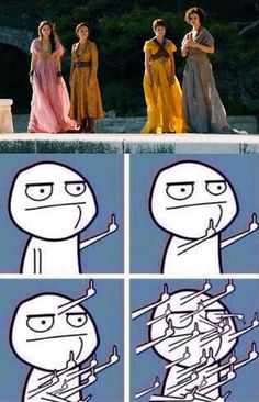 Game of Thrones has made me hate the Sand Snakes - some of my favourite characters in ASOIAF! Something, somewhere went very, very wrong... Screw you, Dorne