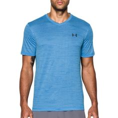 Under Armour Men's UA Tech V-Neck T-Shirt, Size: Small, Blue