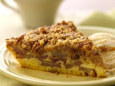 Impossibly Easy French Apple Pie.  Made using Bisquick Gluten Free mix and sprinkled with streusel topping for an anytime dessert.