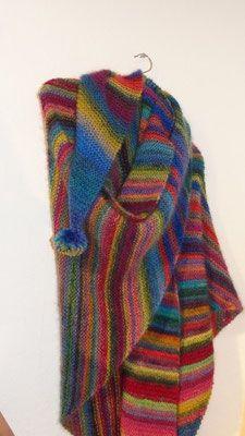 Zweifädiges Tuch aus einer bunten Seiden-Schurwolle-Mischung und einem Seiden-Mohair-Gemisch