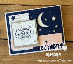 Craft-somnia Momma: Twinkle Twinkle Little One ~ Monday Montage Kids Cards, Baby Cards, Baby Shower Planner, Star Cards, Stampin Up Catalog, Twinkle Twinkle Little Star, Card Sketches, Halloween Cards, Cute Cards