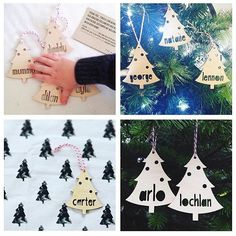 last year our #musthave  #personalised #tree and #reindeer #decorations were a hit! So time to grab at a great price for #kids, the #teacher or that awkward person to buy for?!!! Order IN STORE NOW and they will be on your tree for the countdown to christmas. Left unfinished for #minimal #Nordic #charm and finished with #candy stripe twine or NOW IN WHITE ACRYLIC!!! @dilan_andme @carterandus @mikailahp and @nateden - thanks for the great pics xx