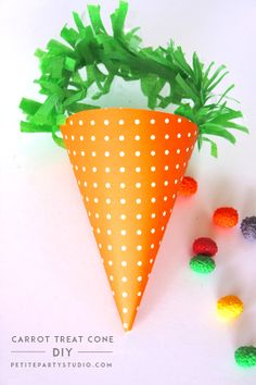 FREE PRINTABLE Carrot Treat Cone