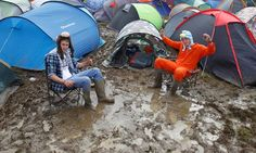 Isle of Wight festivalgoers camping in the mud Sleep In Car, Camping Images, Isle Of Wight Festival, Survival Essentials, Camping Uk, Festival Camping, What To Pack, Mud, Outdoor Gear