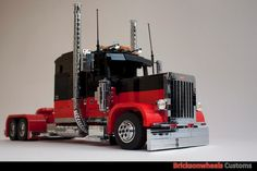 Peterbilt 379 Exhd Reefer Combo: A LEGO® creation by Bricksonwheels MOC : MOCpages.com