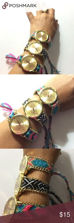 New Dreamcatcher Watch Beautiful watch a great conversation piece. The very top watch is for sale in this listing. Colors blue background with green, pink and ivory. The other watches are available for sale as well get a better value when you bundle. Accessories Watches
