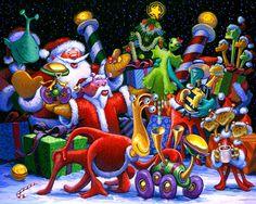 A Space Nicks Christmas Giclee Print by StubbornPixelStudios