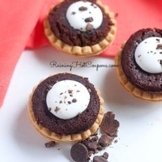 Brownie and Cream Mini Tarts Recipe