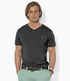 97e65bf77 Polo Ralph Lauren Classic-Fit Short-Sleeved Cotton Jersey V-Neck Tee