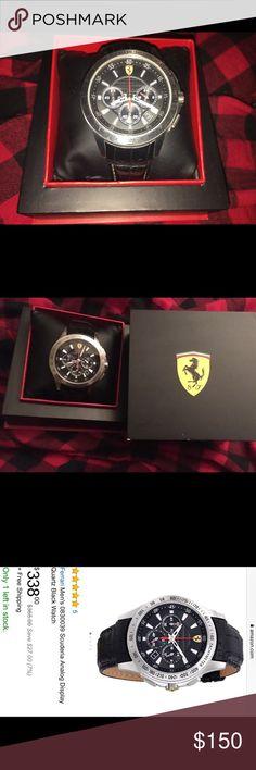 Ferrari Scuderia men's watch Ferrari Scuderia men's watch with original Ferrari leather strap Accessories Watches