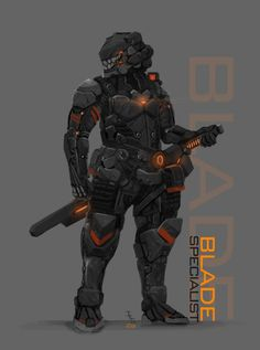 Futuristic soldier. Melee class.