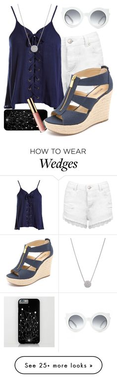 """Untitled #296"" by natsuforyou on Polyvore featuring Miss Selfridge, Sans Souci, tarte, MICHAEL Michael Kors and Crap"