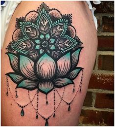 #WomensTattoo #WomensTattooIdeas 55 Pretty Lotus Tattoo Designs For Creative Juice-Floral tattoos are always very popular among women. Today, we are talking and sharing tons of pretty lotus flower tattoos with you!Lotus tattoos are some of the most popular tattoo designs out there not only for its very beautiful appearance, but also for its symbolic and rich meanings behind as well. The lotus flower has many different meanings based on any one of a number of factors,... click for more info.. Lotus Tattoo Design, Hamsa Tattoo Design, Design Tattoos, Lotus Design, Cool Shoulder Tattoos, Shoulder Tattoos For Women, Thigh Tattoos For Women, Mandala Tattoo Shoulder, Cover Up Tattoos For Women