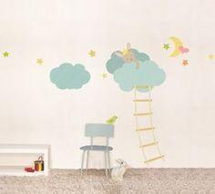 Unique XXL Kinder Wandtattoo Dreams schlafender Hase Homesticker Aufkleber Sticker in M bel u Wohnen Dekoration Wandtattoos u Wandbilder