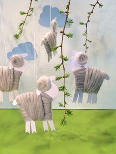 Osterlamm aus Papier und Wolle - blog.hellomime.eu