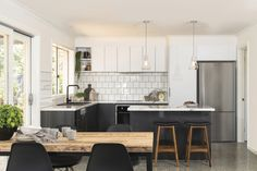 Minimalist style kitchen. For more inspiration visit kaboodle.com.au