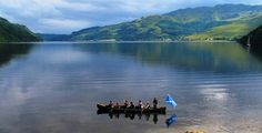 Lochgoilhead 10 person canoe trip possible outing from castle lachlan