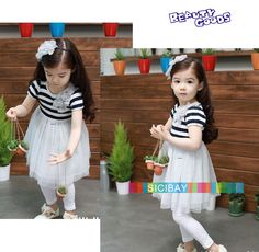 Wholesale Girls Striped Dress Tulle Dress,Kids Summer Wear, Shipping from Reliable Girls Princess Dress Princess Flower Girl Dresses, Princess Dress Kids, Princess Style, Cheap Dresses, Summer Dresses, Cool Kids Clothes, Summer Girls, Summer Wear, Floral Stripe