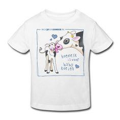 rompertje blauw en wit T-shirt | Nederlandse Vereniging voor Veganisme