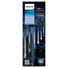 Philips Create Motion 6ct Icicle Cascading Cool White Lights