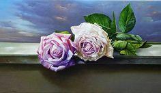 Luigi Grassia nació en Avellino, Italia, en 1946, asistió al Instituto de Arte de su ciudad, donde aprendió los rudimentos del dibujo ... Luigi, Flower Art, Rose, Paintings, Calla Lilies, Wine Cellars, City, Flowers, Art Floral