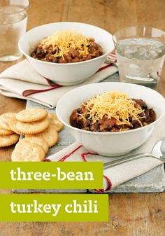 Three-Bean Turkey Chili – A chili that comes together in just 5 minutes? Yup. Brown the ground turkey, open three cans of beans—and let the slow cooker do the rest.