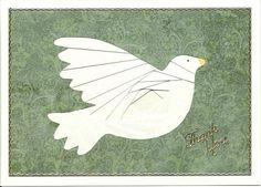 "Iris Folding. Christmas   ""Dove"" @circleofcrafters"