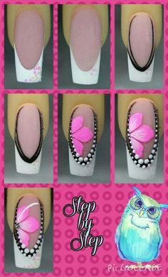 111 Nail Art Tutorials – Learn How To Do The Simple Ones To Intricate Details - Pinokyo Sexy Nails, Fancy Nails, Toe Nails, Pink Nails, Pretty Nails, Nagel Hacks, Nagel Gel, Beautiful Nail Designs, Flower Nails