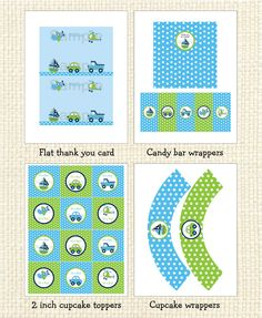 Boys Transportation Printable Baby Shower by LittlePrintsParties, $10.00