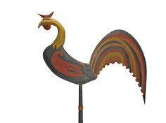 Rooster Weathervane by Jay Miles -  Cedar - 44L  with and antique finish