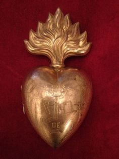 RESERVED French sacred heart reliquary Ex by lesjardinsdeleanor, $350.00