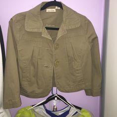 Crop jacket DKNY crop olive green jacket DKNY Tops
