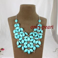 Free Shippingc green Turquoise Necklace 1920inch by OnlyPearl, $26.50