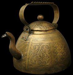 532. Islamic Nigerian Nupe Brass Kettle
