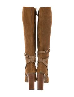 b89e4fc6714c Gucci Suede Knee-High Boots - Shoes - GUC144520 | The RealReal Knee High  Boots