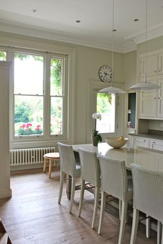 Modern Country Style: Kate's Creative Space Full Home Tour Click through for details.  Artisan oak linen floors by Kahrs