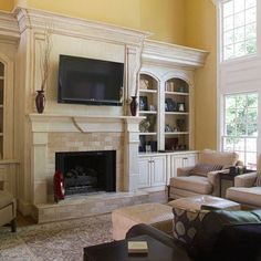 Image detail for -Custom Fireplace Built-ins Design, Pictures, Remodel, Decor and Ideas